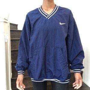 1990's Nike Windbreaker V-neck Varsity Pullover